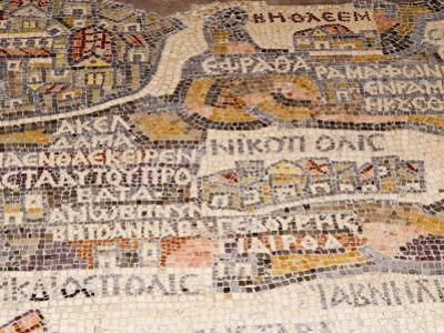 Mosaics Showing Map of Palestine, St. George Orthodox Christian Church, Madaba, Jordan, Middle East