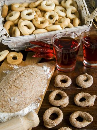Tarallucci or Taralli, Bread from Puglia, Italy, Europe by Tondini Nico