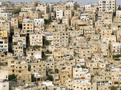 View over City, Amman, Jordan, Middle East by Tondini Nico