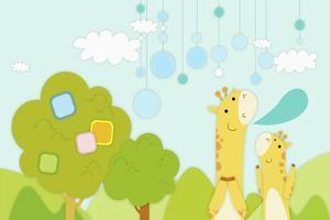 Giraffes in Backdrop by TongRo