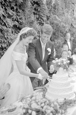 Wedding of Jackie Bouvier and Senator John F. Kennedy at Newport, Rhode Island, 1953 by Toni Frissell