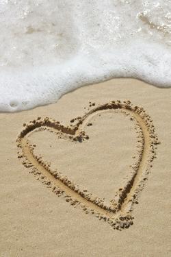 Heart-shape Drawn In Sand by Tony Craddock