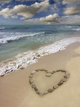 Heart-shape on a Beach by Tony Craddock