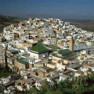 Moulay Idriss, Including the Tomb and Zaouia of Moulay Idriss, Morocco by Tony Gervis