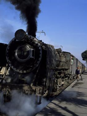 Steam Locomotive of Indian Railways at Chittaurgarh Junction, India by Tony Gervis