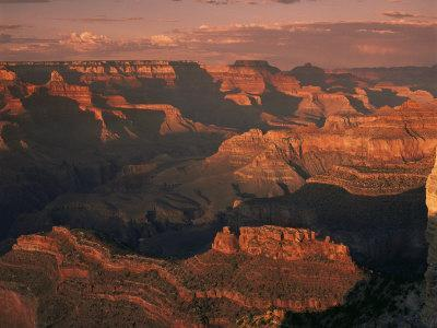 The Grand Canyon at Sunset from the South Rim, Unesco World Heritage Site, Arizona, USA