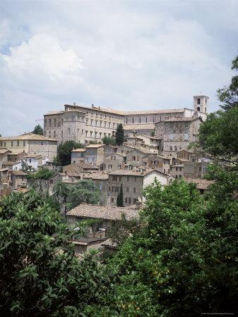 Todi, a Typical Umbrian Hill Town, Umbria, Italy