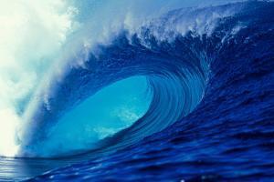Massive Empty Breaker Ready for the Next Surfer Tahiti by Tony Harrington