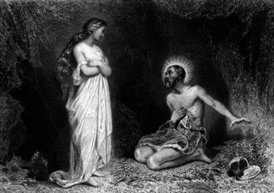 Saint Benedict of Norcia by Tony Johannot