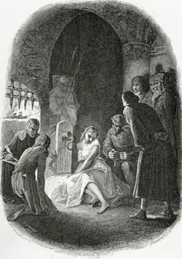 The Interrogation of Esmeralda - Illustration from Notre Dame De Paris, 19th Century by Tony Johannot
