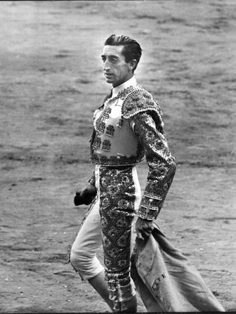 Bullfighter Manolete Accepting Applause of Crowd After Dispatching his Second Bull of the Afternoon