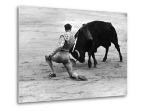 Matador Julian Marin and Bull in the Ring for a Bullfight During the Fiesta de San Ferman by Tony Linck
