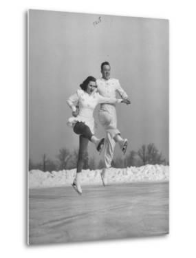 Michael Kennedy and Wife Karol, Dancing on Ice Skates at the World Figure Skating Championship by Tony Linck
