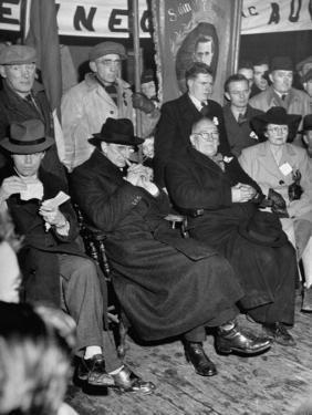 Premier Eamon De Valera at a Campagin Meeting in Athlone by Tony Linck