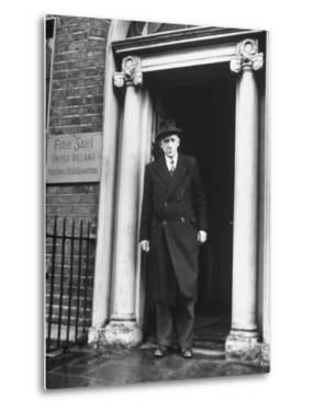 Richard Mulcahey Standing in the Doorway of the Fine Gael Headquarters by Tony Linck