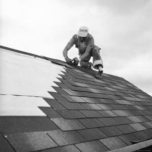 Roofer Working in Levittown by Tony Linck