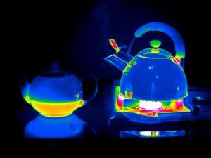 Kettle And Teapot, Thermogram by Tony McConnell