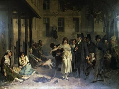 Psychiatrist Philippe Pinel (1745-1826) Releasing Insane from their Chains at Salpetriere Asylum in