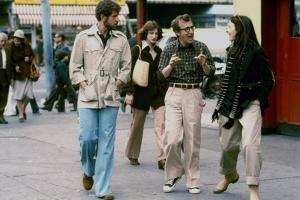 Tony Roberts, Woody Allen and Diane Keaton. ANNIE HALL, 1977 directed by Woody Allen (photo)