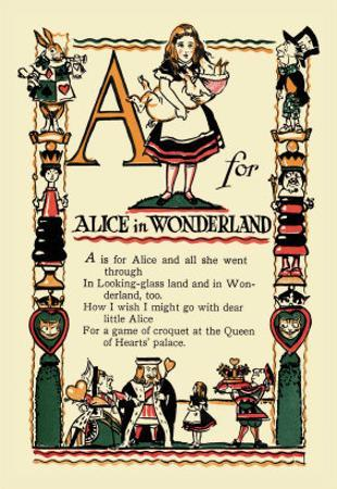 A for Alice in Wonderland