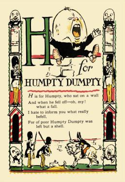 H for Humpty Dumpty by Tony Sarge