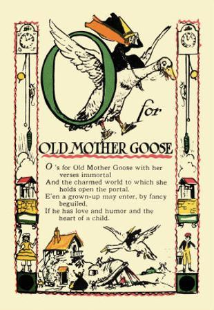 O for Old Mother Goose