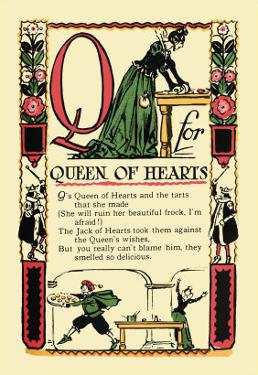 Q for Queen of Hearts by Tony Sarge