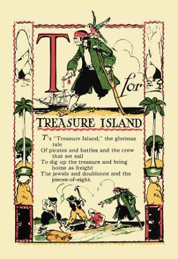 T for Treasure Island by Tony Sarge