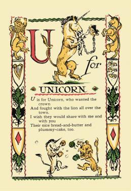 U for Unicorn by Tony Sarge