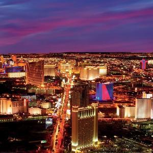 Las Vegas Strip at Night, Las Vegas by Tony Strong