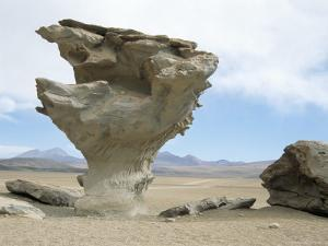 Arbol De Piedra, Wind Eroded Rock Near Laguna Colorada, Southwest Highlands, Bolivia, South America by Tony Waltham