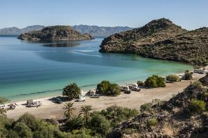 Bay near Loreto, into Sea of Cortez, Baja California, Mexico, North America by Tony Waltham