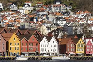 Bryggen old town waterfront, Bergen, Euruope by Tony Waltham