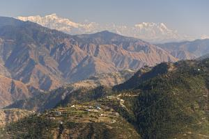 Gangotri Mountains, Garwhal Himalaya, Seen from Mussoorie Hill Station, Uttarakhand, India, Asia by Tony Waltham