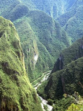 Granite Gorge of Rio Urabamba, Seen from Approach to Inca Ruins, Machu Picchu, Peru, South America by Tony Waltham