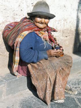 Local Resident, Cuzco, Peru, South America by Tony Waltham