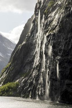 Part of the Seven Sisters waterfall, Geiranger Fjord, More og Romsdal by Tony Waltham