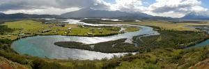 Rio Serrano and Los Cuernos Del Paine by Tony Waltham