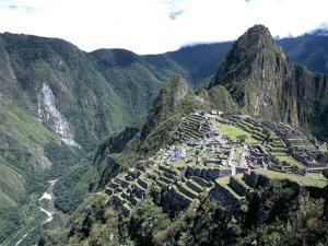 Ruins of Inca Town Site, Seen from South, with Rio Urabamba Below, Unesco World Heritage Site by Tony Waltham