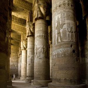 The Outer Hypostyle Hall in the Temple of Hathor, Dendera Necropolis, Qena by Tony Waltham