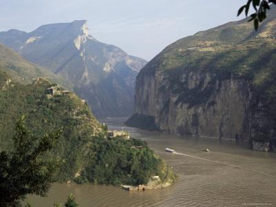 Upstream End Seen from Fengjie, Qutang Gorge, Three Gorges, Yangtze River, China by Tony Waltham