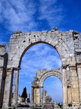 Arches of Qala'At Samaan, Ruined Basilica Built Around Pillar of St. Simeon, Halab, Syria