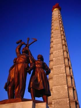 Juche Tower and Statue, P'Yongyang, North Korea by Tony Wheeler