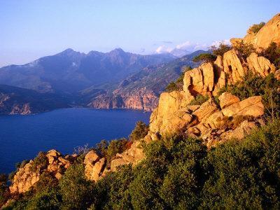 Les Calanques, Rocky Inlets Towering 400 Metres Above Golfe De Porto, Piana, Corsica, France