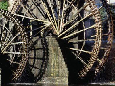 Triple Noria (Wooden Water Wheel), Hama, Syria