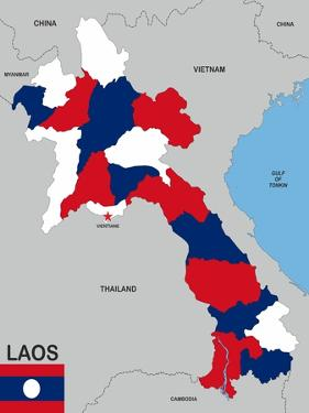 Laos Map by tony4urban