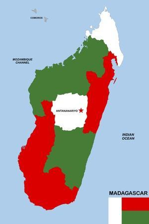 Maps of Madagascar Posters for sale at AllPosterscom