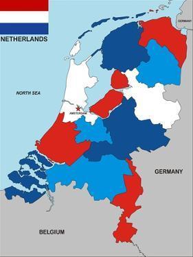 Netherlands Map by tony4urban