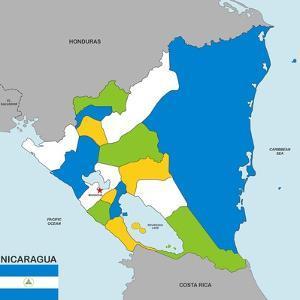 Nicaragua Map by tony4urban