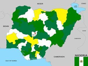 Nigeria Map by tony4urban